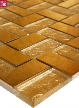 "Mosaik ""Golden Glass Stain"""