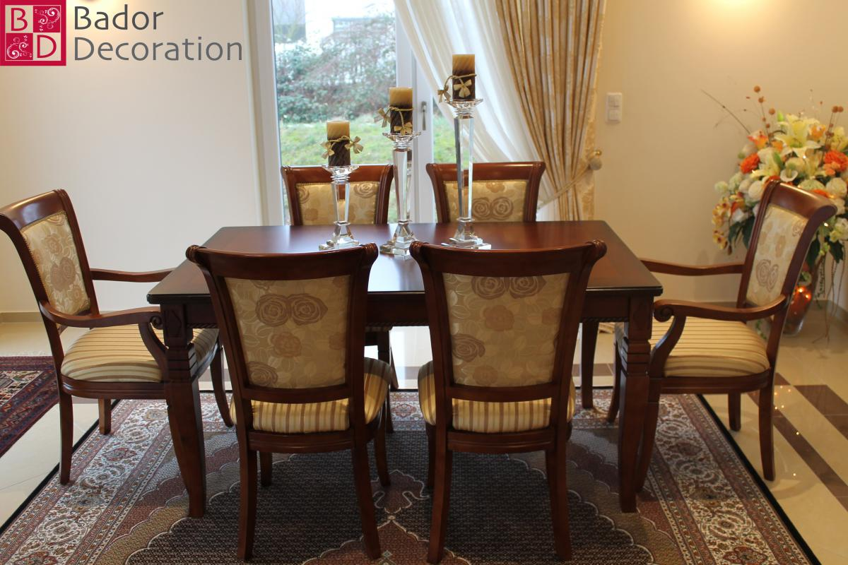 bador decoration tischgruppe hanna mit 6 st hlen aus. Black Bedroom Furniture Sets. Home Design Ideas